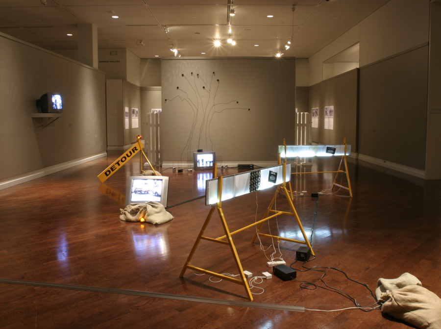 Just Keep Walking (installation view)